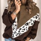 Autumn Stitching Color Long Sleeve Knit Sweater