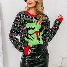 Cute Cartoon Printed Christmas Sweater