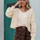 Loose Hollow Lantern Sleeve Sweaters For Women