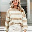 Casual Simple Design Striped Sweater