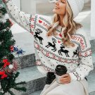 Christmas Love Fawn Printed Ladies Sweater