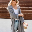 Solid Loose Long Knit Cardigan