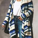 Casual Knit Striped Long Cardigan