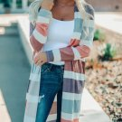 Contrast Color Striped Long Knit Cardigan