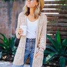 Winter Long Sleeve Pocket Knit Cardigan