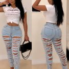 Ripped Skinny High Waisted Jeans