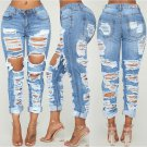 Stylish Mid Waist Ripped Jeans