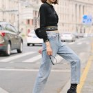 Straight Solid Loose Jeans For Women