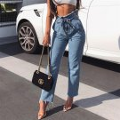 Tassels Tie-wrap High Waisted Jeans