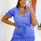 Chic Beaded V Neck 2 Piece Skirt Set