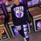 Street Swear Printed Hoodie Two Piece Outfits