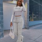 Letter Long Sleeve Two Pieces Pants Set