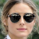 Classic Rose Gold Cat Eye Sunglasses Women Brands Designer Fashion Summer Cateye