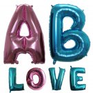 Large 40 inch light blue&pink Letter Foil Balloons Birthday Party Wedding Decora