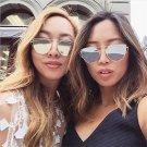 New Cat Eye Sunglasses Women Vintage Fashion Rose Gold Mirror Clear Sun Glasses