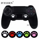 IVYUEEN 4 pcs Silicone Analog Thumb Sticks Grips for Sony PlayStation 4 PS4 Slim