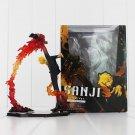 Anime One Piece Black Leg Sanji Fire Battle Version Boxed PVC Action Figure Coll