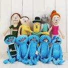 1pcs 25-30cm Rick and Morty Stuffed Plush Doll Happy Sad Foamy Caddy Meeseeks Je