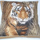 On Safari magnificent Tiger prowling cushion