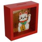 See Your Savings Money Box - Lucky Cat Maneki Neko