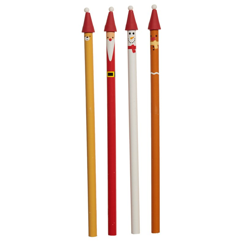 Fun Christmas Character Pencil 4 Supplied