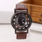 Fashion Business Skeleton Watch Men Engraving Hollow Reloj Hombre Dress Quartz Wristwatch