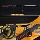"41"" HANDMADE Japanese SAMURAI NINJA SWORD BLACK STEEL FULL TANG BLADE VERY SHARP"