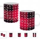 11 oz. COSMIC PLAID Coffee Cup