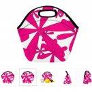 Small Pink Pin Wheel Neoprene Lunch Bag l M 1669