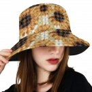 Diamond Overlay Sunflowers Print Bucket Hat