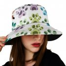 Colorful Paw Print Bucket Hat