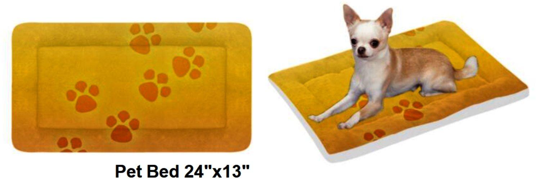 "Sunset Paws Pet Bed 24""x13"""