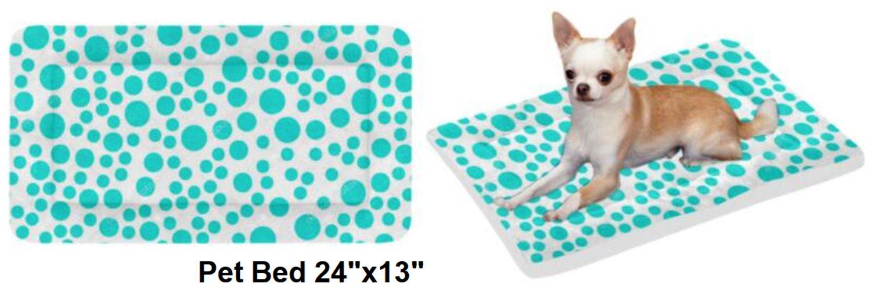 """Tiffany Dots Pet Bed 24""""x13"""""""