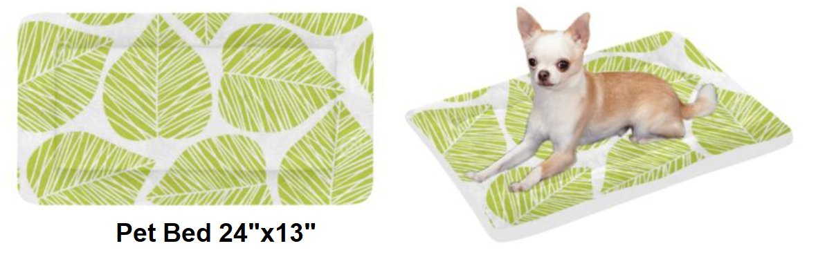"""Cool Spring Leaves Pet Bed 24""""x13"""""""