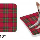 "Christmas Plaid Pet Bed 24""x13"""