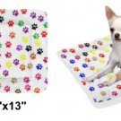 "Multi Color Paws Pet Bed 24""x13"""