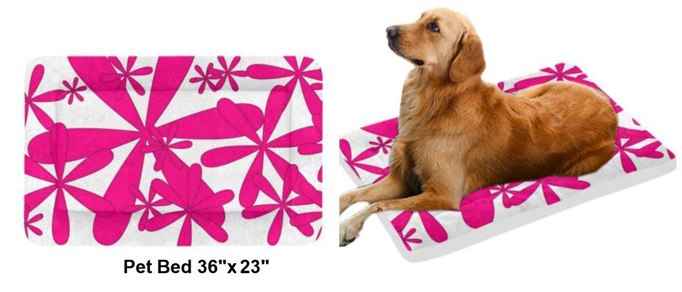 "Pink Pink Wheel Pet Bed 36""x23"""