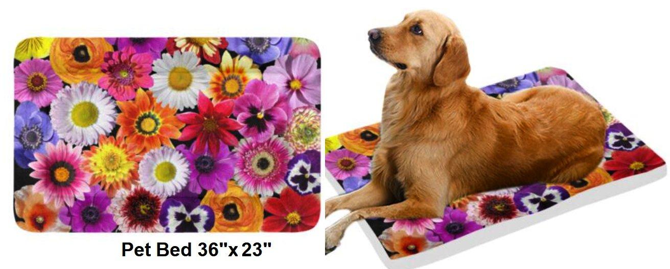 "Spring Bouquet Pet Bed 36""x23"""