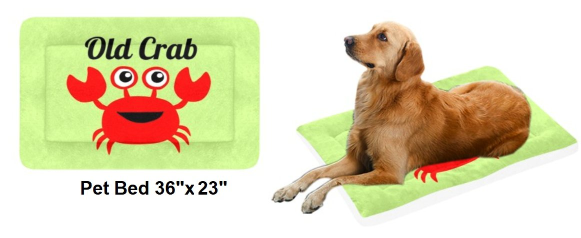 """OLD CRAB Light Green Pet Bed 36""""x23"""""""