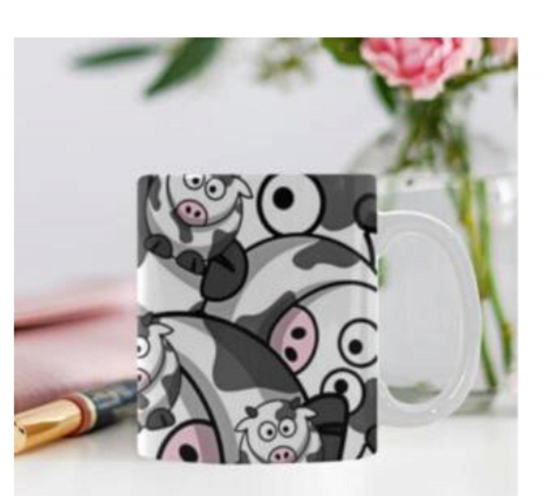 11 oz. Layered Cows Coffee Cup