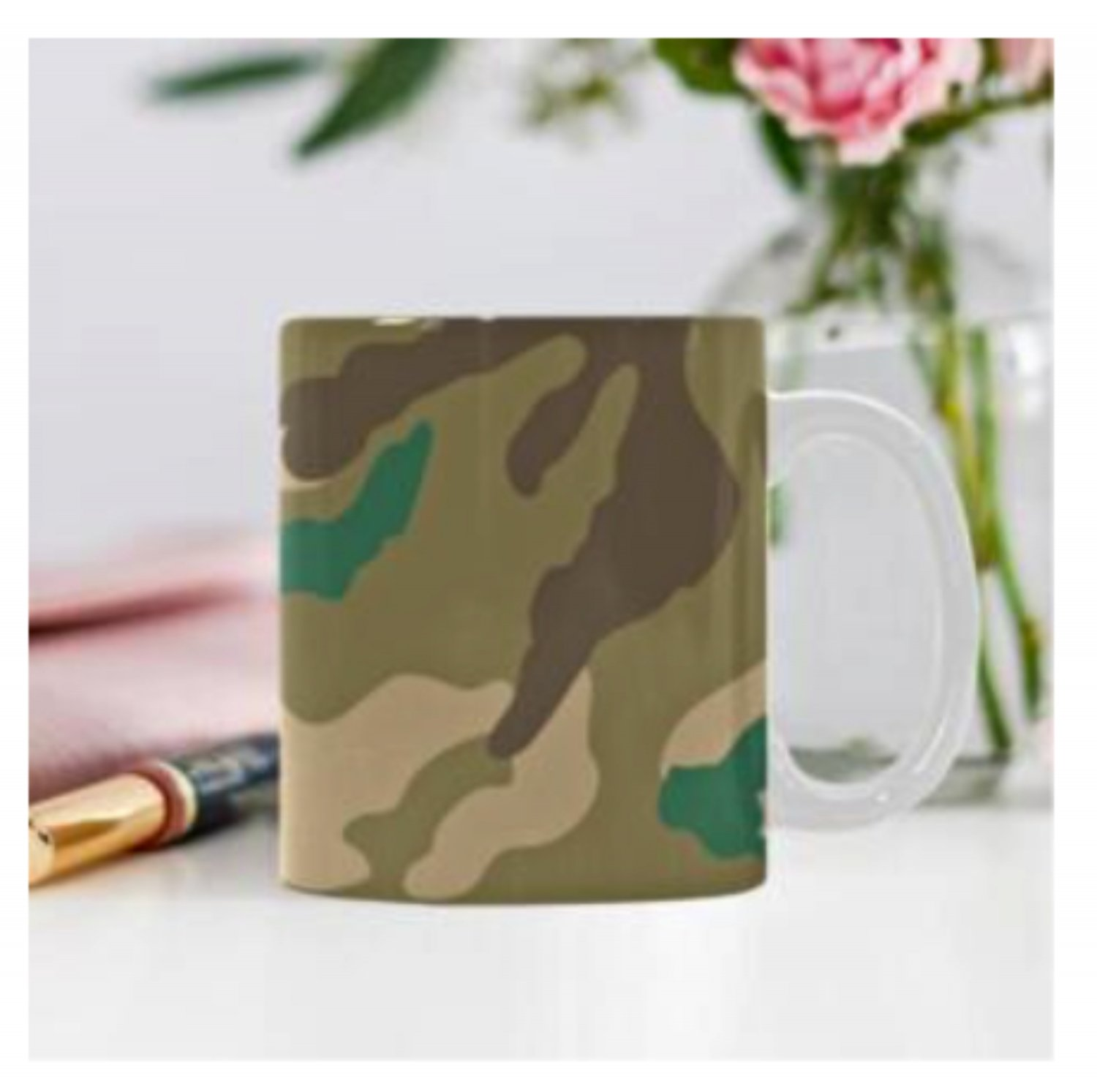 11 oz. Camouflage Coffee Cup