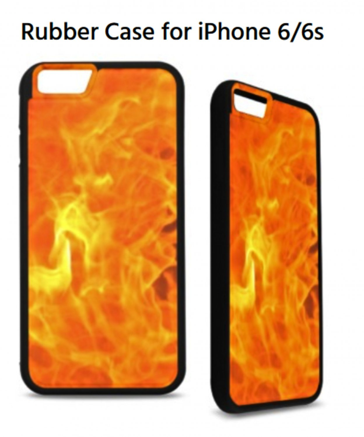 Blazing Fire Rubber Case for iPhone 6/6s