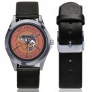 Big Fishing Tournament Silver-Tone Round Leather Watch - M216