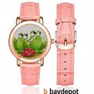 RUDY & RUBY FROG Rose Leather Band Watch M201