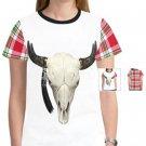 Cattle Skull / Plaid Tee for Women MT45