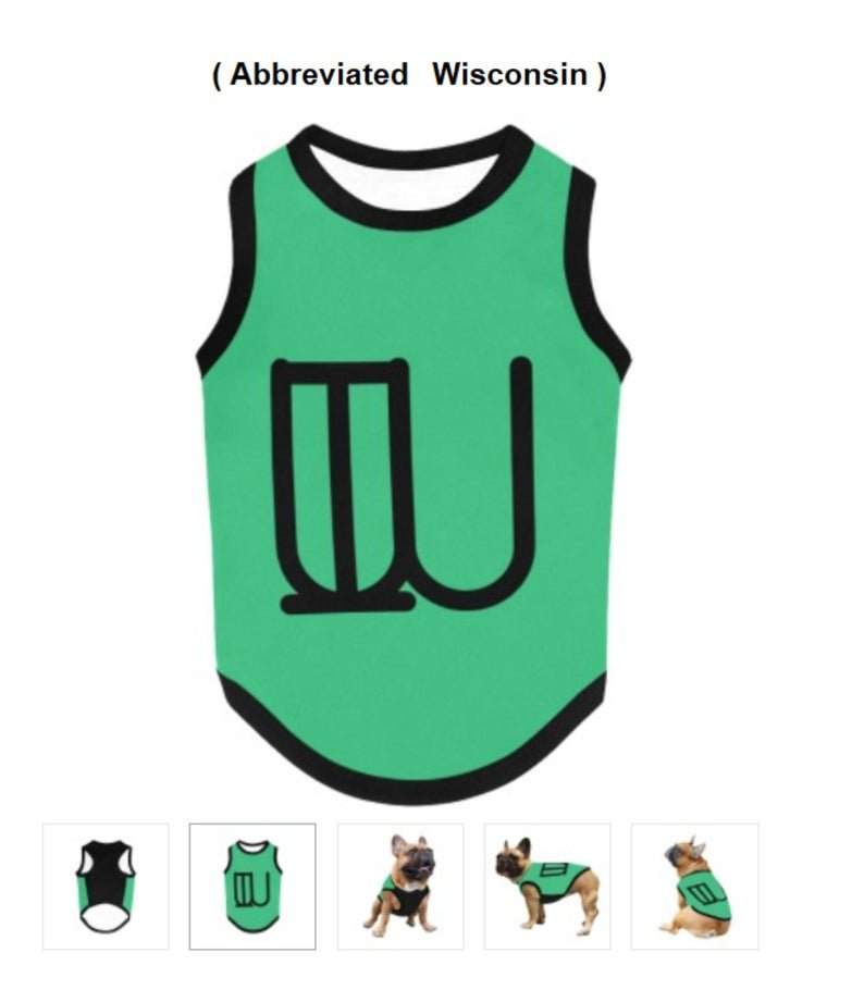 WISCONSIN State Abbr. Pet Tank Top