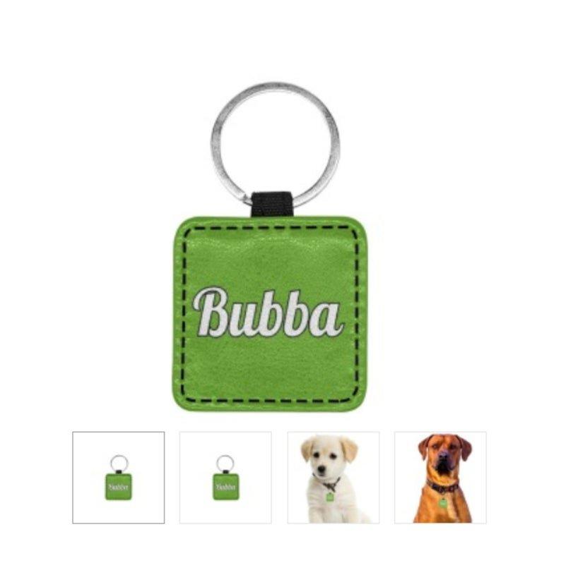 BUBBA Print Square Pet ID Tag or Key Chain