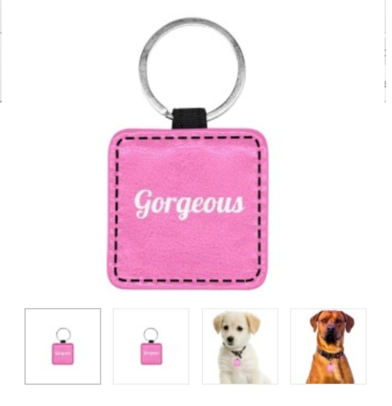 GORGEOUS Print Square Pet ID Tag or Key Chain