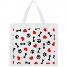 # 1702 PAWS BONES HEART  Canvas Tote Bag