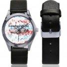 Lamborghini Unisex Silver-Tone Round Leather Watch - M216
